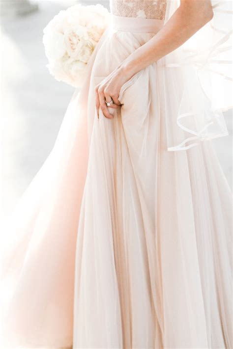 Phoebe Cascade Veil, Edge Trim   medium length   warm rosy