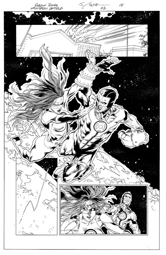 Green Lanterns 1 & 2 pages up for sale at More Great Art