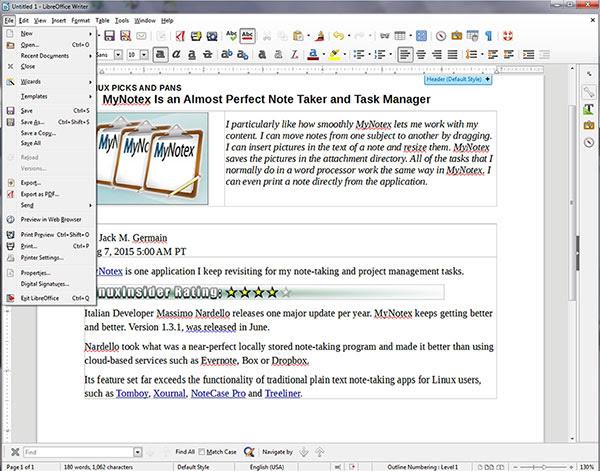 LibreOffice 5.0 interface