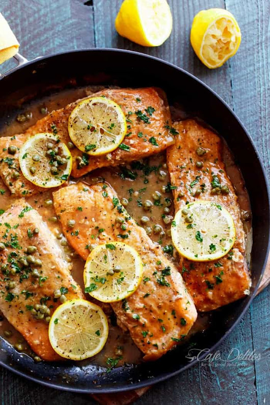Easy Salmon Piccata - Cafe Delites