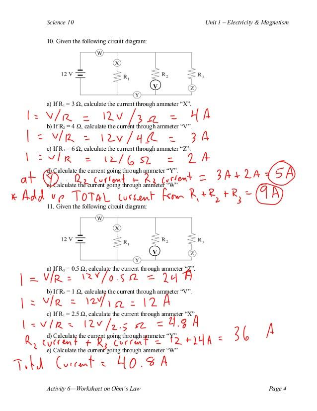 Printables. Ohms Law Worksheet. Lemonlilyfestival Worksheets Printables
