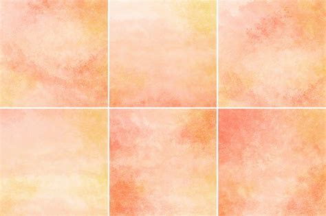 Peach & Orange Watercolor Background ~ Textures on