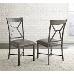 Steve Silver Alamo Faux Leather Dining Side Chair in Gray - AL450S
