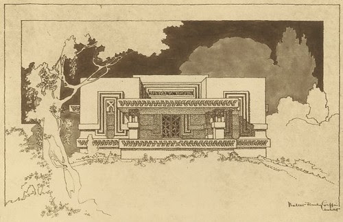 Elevation of Jwala Bank, Jhansi, India 1936