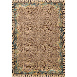 """nuLOOM Beige Contemporary Tribal Jungle Leopard Skin Area Rug Ivory 5' x 7' 5"""" 5' x 8'"""