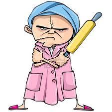 mean woman cartoon