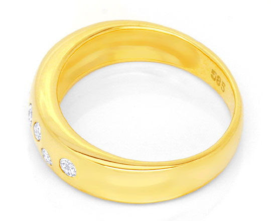 Originalfoto GOLD-BANDRING MIT 7 DIAMANTEN, BRILLANTEN, RIVER LUXUS!