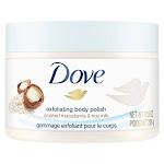 Dove Exfoliating Body Polish Scrub, Macadamia & Rice Milk - 10.5 oz jar