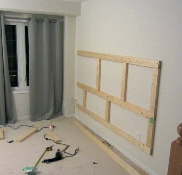 DIY Floating Wall - How To Build A Bachelor Pad TV Stand