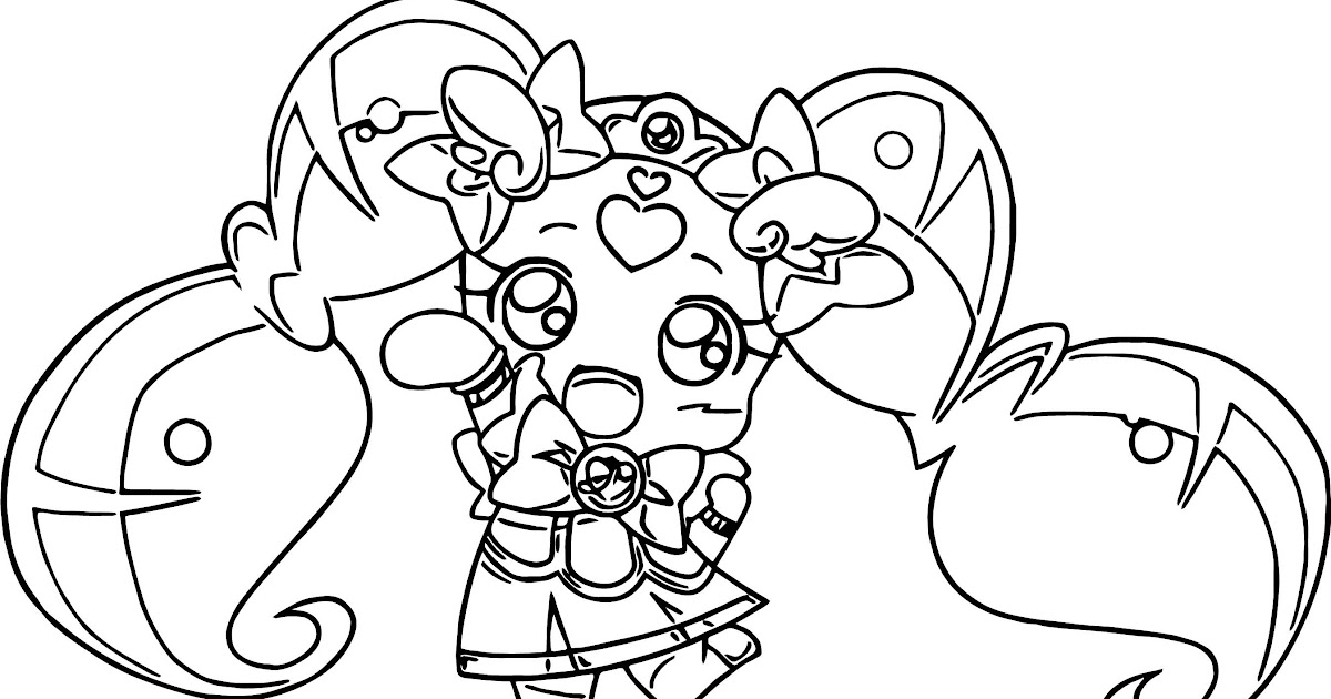 Doki Doki Glitter Force Coloring Pages Printable