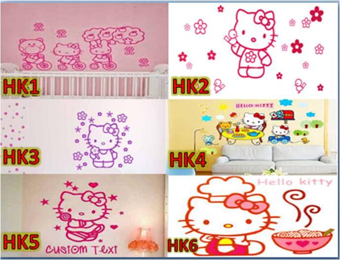 Jual Wall Sticker Hello Kitty Murah