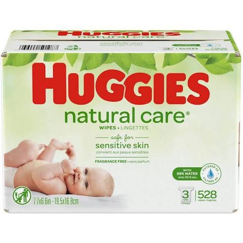Huggies Natural Care Wipes 3pk - 528ct