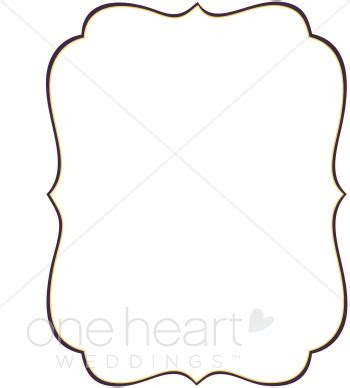 stylish bracket clipart wedding borders