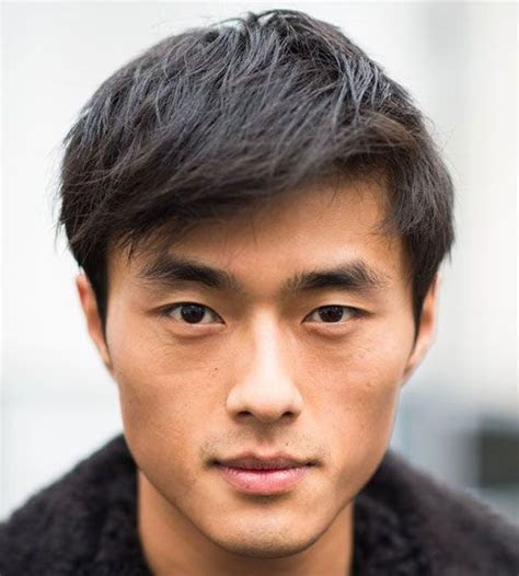 hairstyle  square face asian man hair