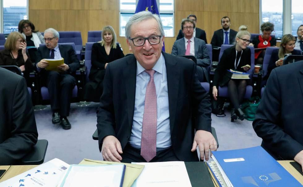 El presidente de la Comisión Europea, Jean-Claude Juncker, en Bruselas este miércoles.rn