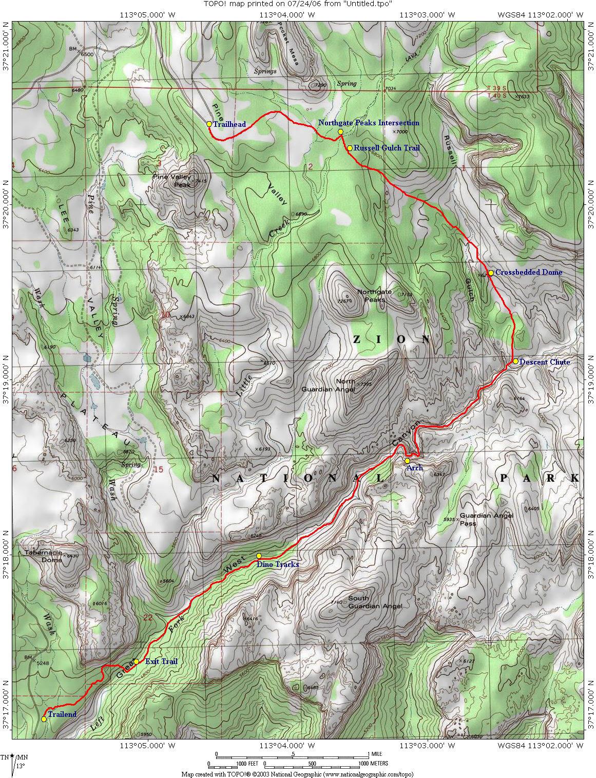 Zion S Subway Map