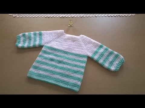Jersey en crochet - YouTube