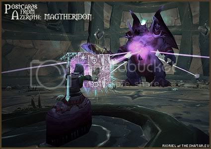 Rioriel's daily World of Warcraft screenshot presentation of significant locations, players, memorable characters and events taken on the European roleplaying server The Sha'tar, assembled in the style of a postcard series. -- Postcards from Azeroth: Magtheridon, by Rioriel of theshatar.eu