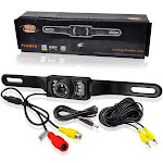 Pyle PLCM10 License Plate Mount Rearview Camera w/ Night Vision