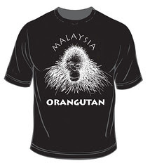 ORANGUTAN MALAYSIAN t shirt orangutan by 'DANVILLAGE' The Art Of AnuarDan