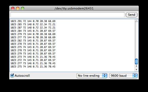 Serial Monitor: Remote Sensing