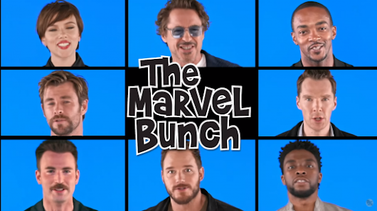"The Avengers: Infinity War cast sings ""The Marvel Bunch"" 