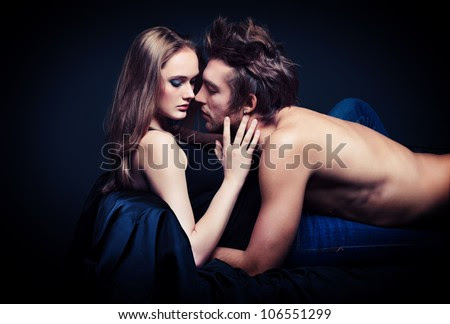 Shot of a passionate young people in love. - stock photo