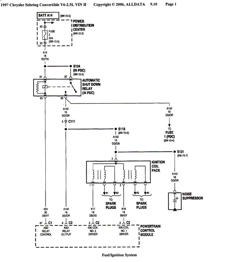 30 2004 Chrysler Sebring Wiring Diagram
