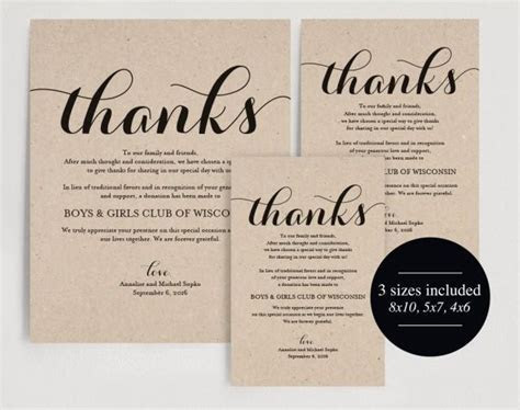In Lieu Of Wedding Favors, Wedding Donation Sign, Charity