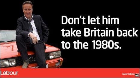 David Cameron as Gene Hunt on poster
