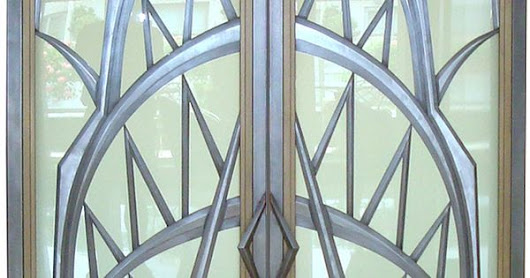 Art Deco style glass doors, created by Eric David Laxman for a penthouse apartment in New York City with spectacular views of Manhattan, including … | Pinterest