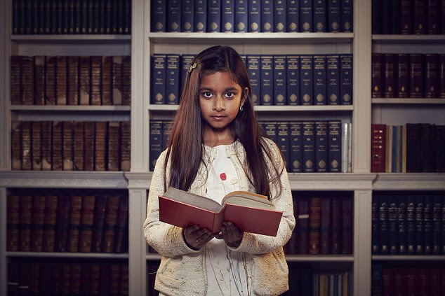Ten-year-old Rhea (pictured) has been officially crowned the brightest child in Britain, after triumphing in a tense final of Child Genius