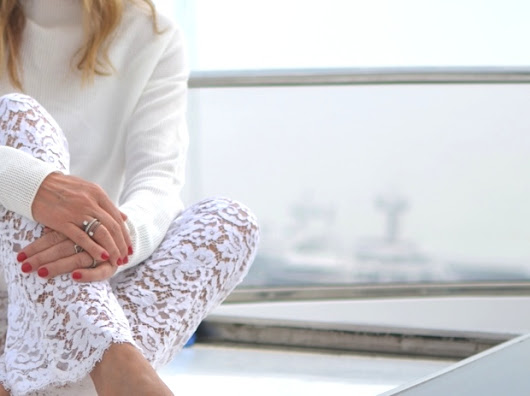 PS- Cruising in White Lace Pants - TrendSurvivor