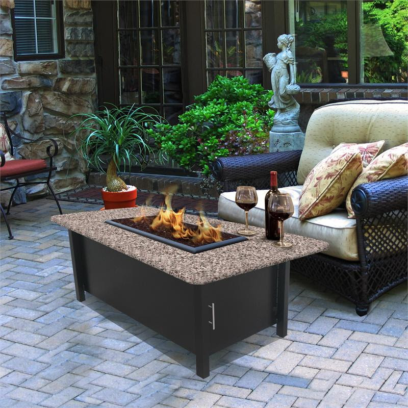 Outdoor Fire Pit Coffee Table Carmel Chat Height ...