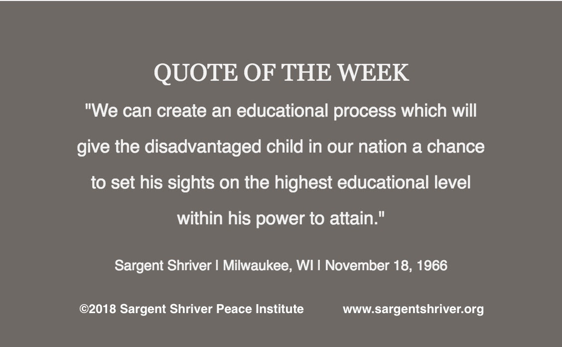 Sargent Shriver Peace Institute Giving Young People A Head Start