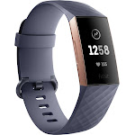 Fitbit - Charge 3 Activity Tracker + Heart Rate - Blue Gray