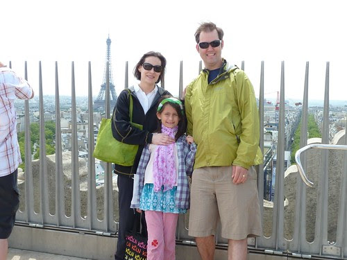On top of the Arc de Triopmhe