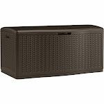 Suncast Capacity Mocha Herringbone Pattern Deck box