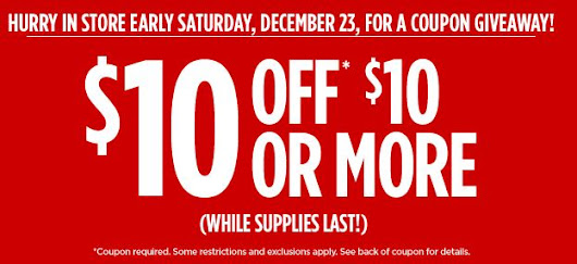 JCPenney $10/$10 Coupon Giveaway in stores SATURDAY 12/23! - Saving Toward A Better Life