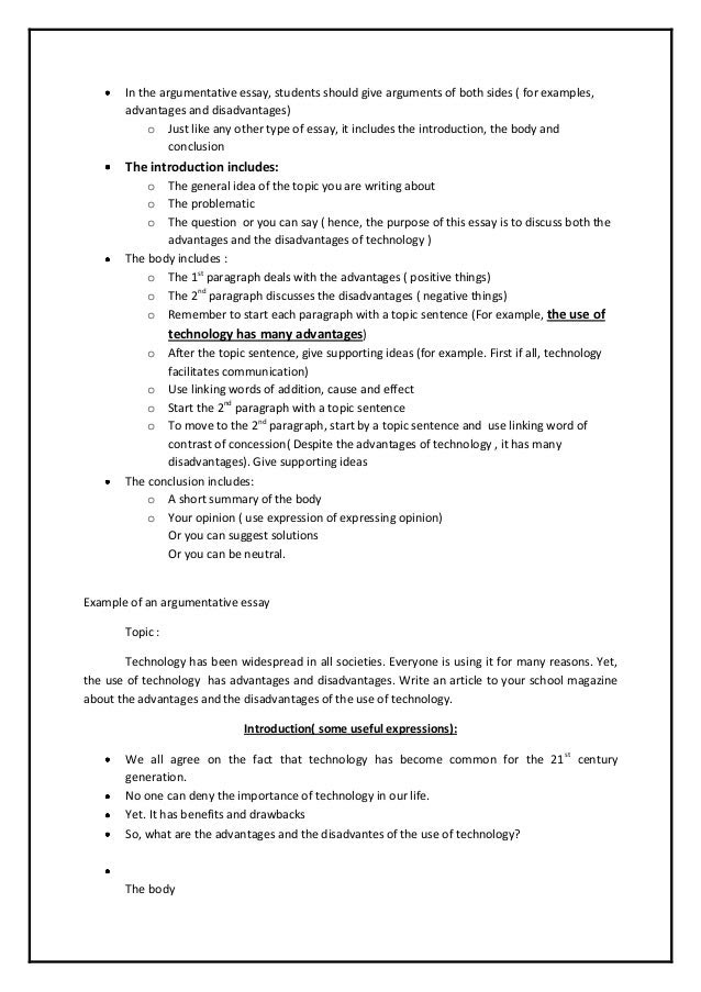 things to write an argumentative essay on