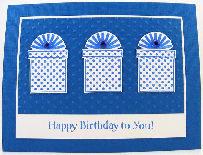 SOL April Blue Presents Card