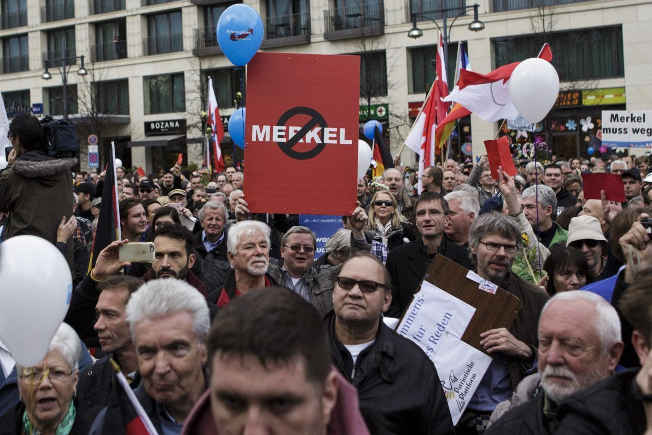 AfD supporters gather in Berlin (Carsten Koall/Getty Images)