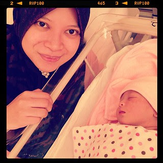 Ayu and her baby