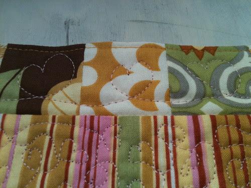 Mug rug border detail