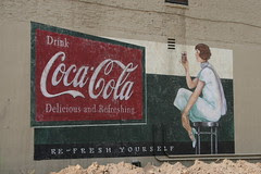 coke sign done for movie in mansfield