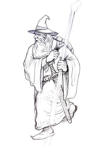 Disegno Di Gandalf Si Incammina Da Colorare Disegni Da Colorare E