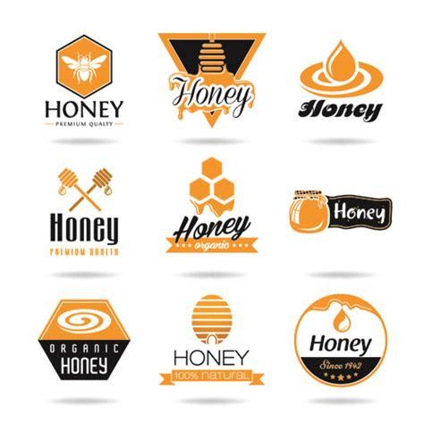 creative honey logos desing vector  vector food