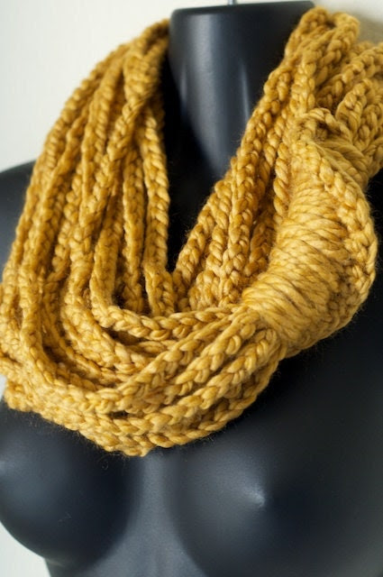 Golden Rod infiniti Lotus Lupe Double Wrap Scarf