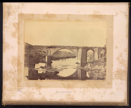 Puente de San Martín de Toledo en el siglo XIX. Foto Jean Laurent. Biblioteca Nacional de Brasil