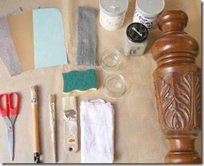 Material para fazer a pátina provençal